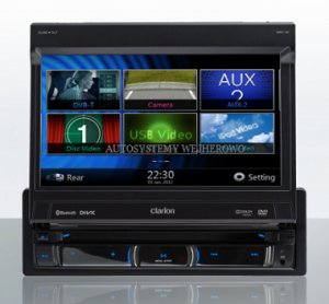 STACJA MULTIMEDIALNA CLARION NZ502E 1 DIN CD/DVD/USB/BT/GPS